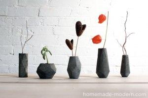 Florero de concreto