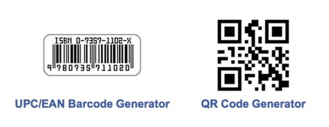 Página web para generar de códigos ISBN y QR