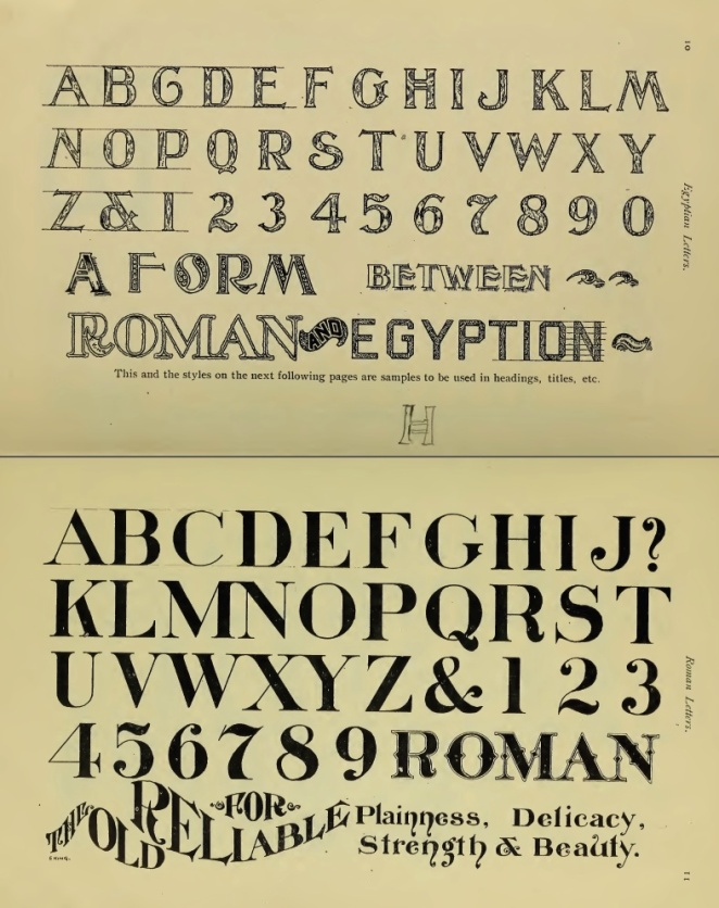 A chapter on lettering