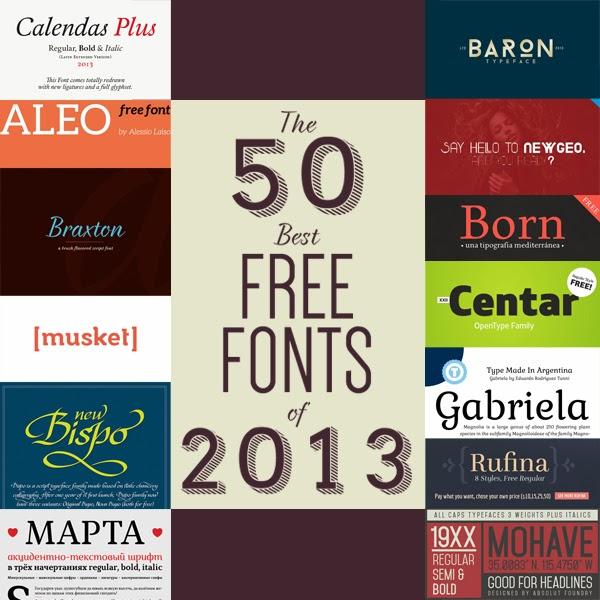 Las 50 mejores tipografías gratuitas que han visto la luz en este 2013